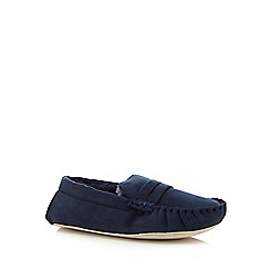J by Jasper Conran - Navy moccasin slippers