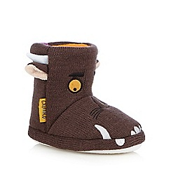 The Gruffalo - Boys' brown 'Gruffalo' slipper boots