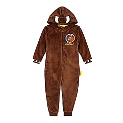 The Gruffalo - Boys' brown 'Gruffalo' fleece onesie
