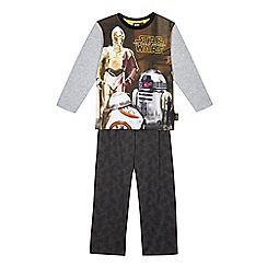 Star Wars - Boys' black Droids pyjama set