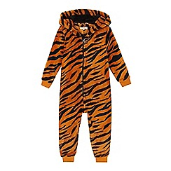 bluezoo - Boys' orange tiger all in one