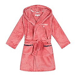 J by Jasper Conran - Girls' pink fluffy dressing gown