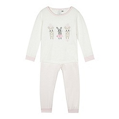 J by Jasper Conran - Pink mouse pyjama set