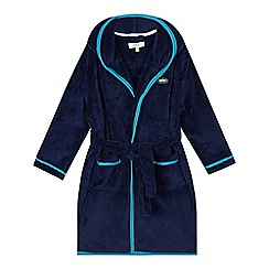 Baker by Ted Baker - Boys' navy embossed fleece dressing gown