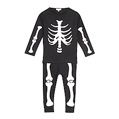 bluezoo - Boys' black skeleton glow in the dark pyjama set