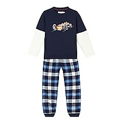 J by Jasper Conran - Boys' blue car top and bottoms pyjamas set