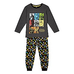 Star Wars - Boys' grey graphic pyjama set