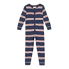 J by Jasper Conran - Boys' blue striped jersey all-in-one