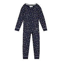 J by Jasper Conran - Girls' navy heart top and bottoms pyjama set