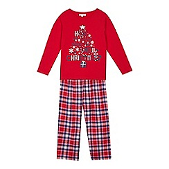 bluezoo - Girls' red Christmas pyjamas