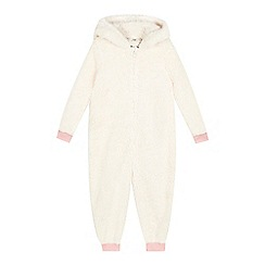 bluezoo - Girls' off white sheep all in one