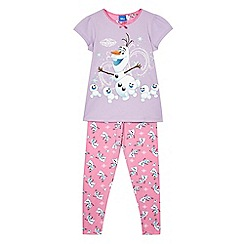 Disney Frozen - Girls' lilac Olaf pyjama set