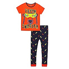 bluezoo - Boys' orange bear print pyjama set