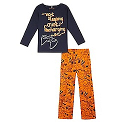 bluezoo - Boys' navy gaming pyjama set