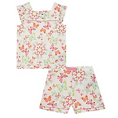 Baker by Ted Baker - Girls' pink butterfly print dress and shorts set