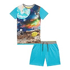 Baker by Ted Baker - Boys' blue space print pyjama set