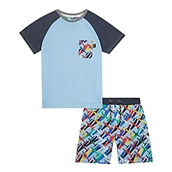 Baker by Ted Baker - Boys' blue plane print pyjama set