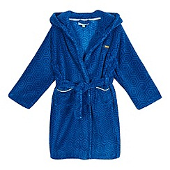 Baker by Ted Baker - Boys' blue geometric dressing gown