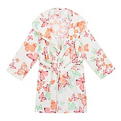 Baker by Ted Baker - White butterfly print hooded dressing gown