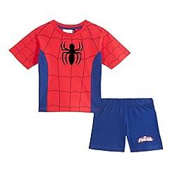 Spider-man - Boys' red Spiderman print pyjama set