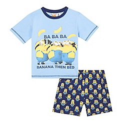 Despicable Me - Boys' blue 'Minions' pyjama top and shorts set