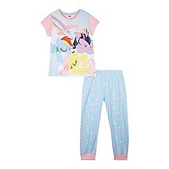 My Little Pony - Girls' pink and blue pyjama set