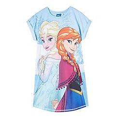 Disney Frozen - Girls' aqua Frozen sleep t-shirt