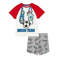 bluezoo - Boys' red football print pyjama set