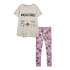 bluezoo - Girls' milk & cookies pyjama set