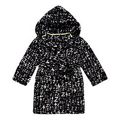 bluezoo - Boys' black 'Zzz' print dressing gown