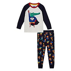 bluezoo - Boys' crocodile applique pyjama set