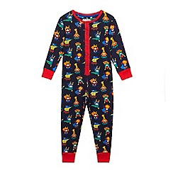 bluezoo - Baby boys' multi-coloured superhero print all-in-one
