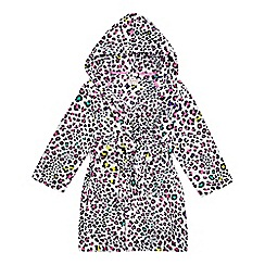 bluezoo - Girls' multi-coloured leopard print dressing gown