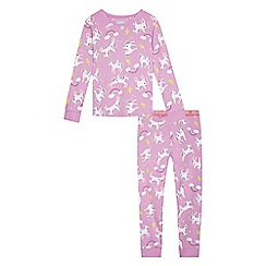 bluezoo - Girls' lilac unicorn print pyjama set