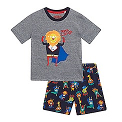 bluezoo - Boys' multi-coloured lion applique pyjamas set
