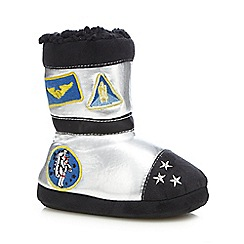 bluezoo - Boys' silver astronaut slipper boots