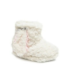 bluezoo - Girls' cream bunny booties