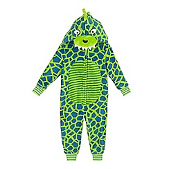 bluezoo - Boys' green dinosaur all-in-one