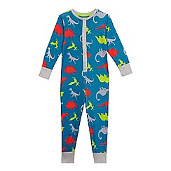 bluezoo - Boys' multi-coloured dinosaur print all-in-one