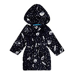 bluezoo - Boys' navy space print dressing gown