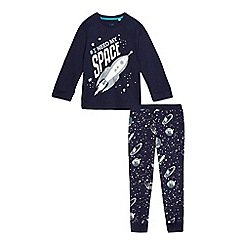 bluezoo - Boys' blue 'I Need My Space', glow in the dark matching pyjama set