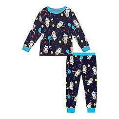 bluezoo - Boys' navy space bear print pyjama set