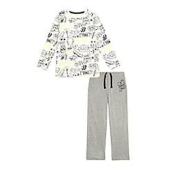 bluezoo - Boys' grey doodle print pyjama set