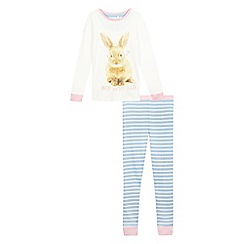bluezoo - Girls' 'Hop To Bed' bunny pyjama set