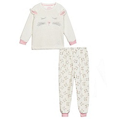 bluezoo - Girls' off white bunny applique pyjama set
