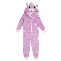 bluezoo - Girls' purple unicorn onesie