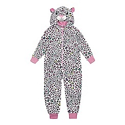 bluezoo - Girls' multi-coloured leopard print all-in-one