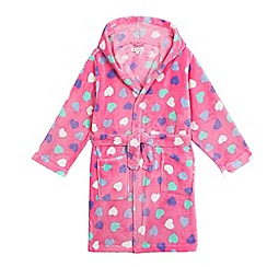 bluezoo - Girls' pink heart print dressing gown