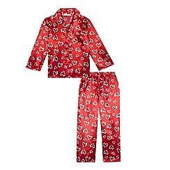 bluezoo - Girl's red heart print pyjama top