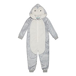 bluezoo - Babies grey penguin all-in-one